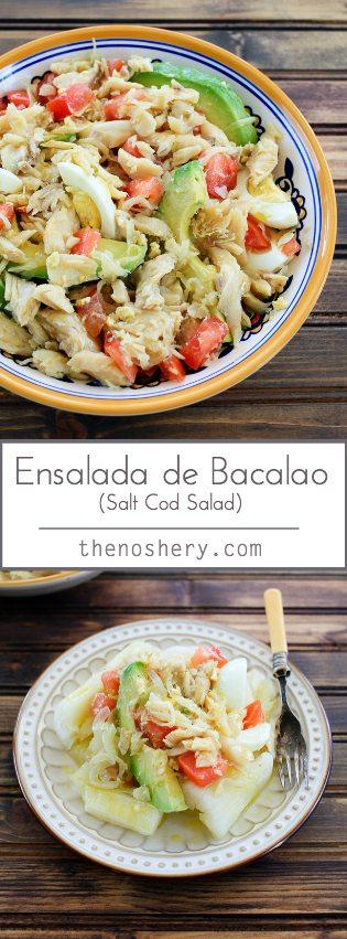 Ensalada de Bacalao (Salt Cod Salad) - TheNoshery.com - @TheNoshery