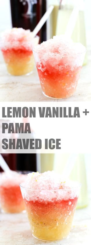 Lemon Vanilla & PAMA Shaved Ice | TheNoshery.com - @TheNoshery | #sponsored #PAMACelebrateSummer