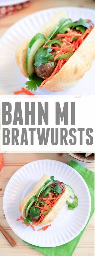 Banh Mi Brats | TheNoshery.com - @TheNoshery #GrillPorkSweeps #ad