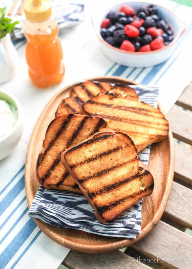 Grilled Brioche with Mixed Berry and Vanilla Ricotta | The Noshery