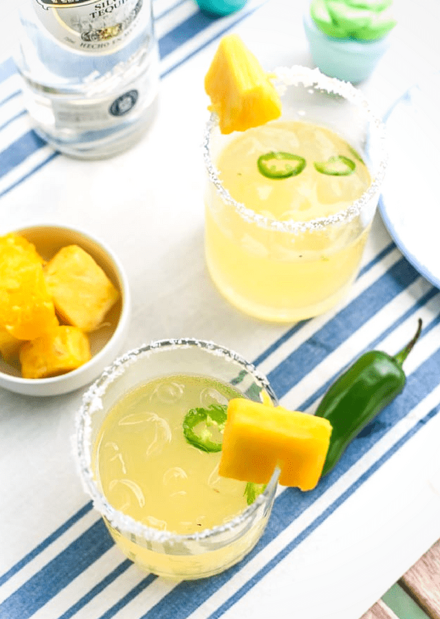 Spicy Pineapple Margarita | The Noshery
