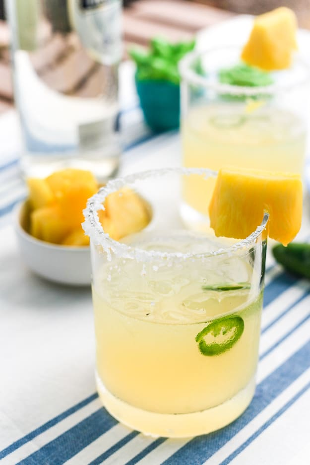 Spicy Pineapple Margarita | TheNoshery.com