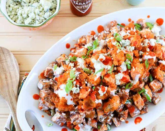 Buffalo Chicken and Sweet Potato Salad