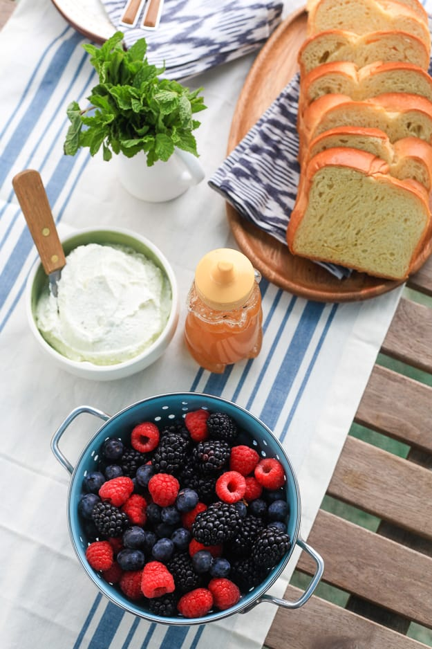 Grilled Brioche with Mixed Berry and Vanilla Ricotta | TheNoshery.com
