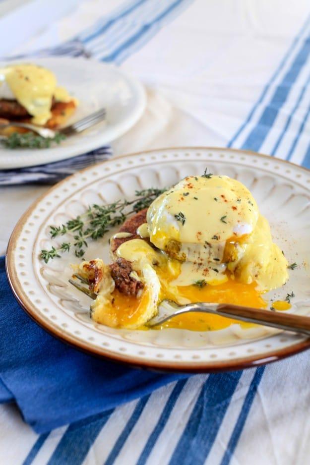 Potato Cake Benedict - TheNoshery.com