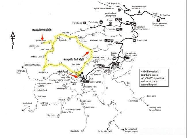 RMNP Trail Map
