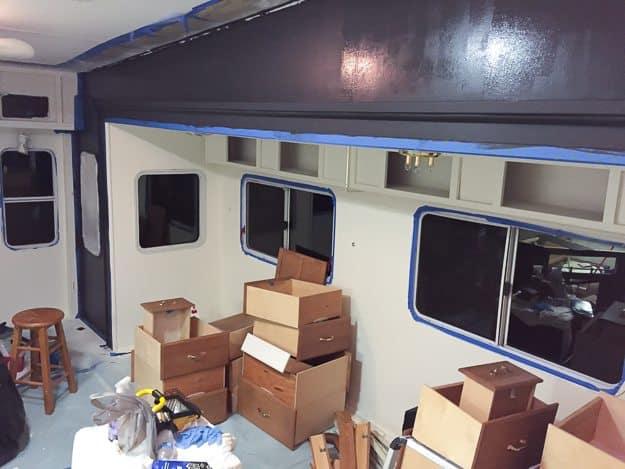 How to Paint Camper Interior | TheNoshery.com @TheNoshery #dreamsmallproject