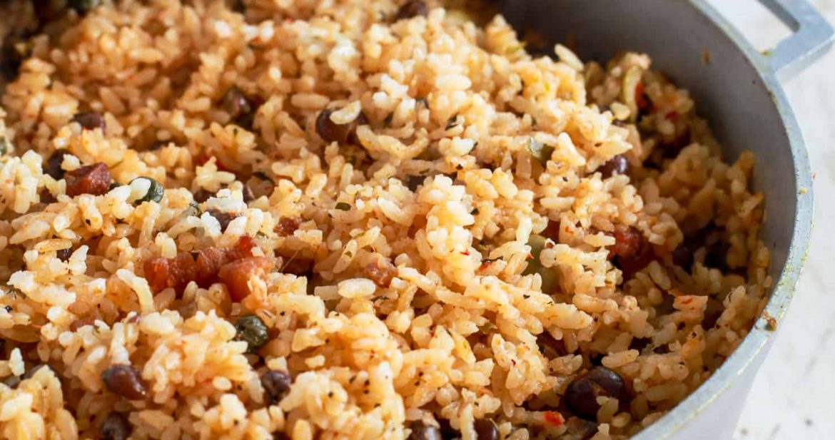 Arroz con Gandules (Puerto Rican Style Rice and Pigeon Peas)