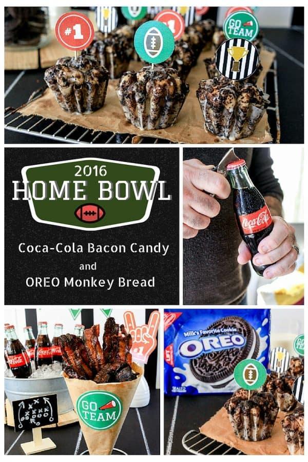 Game Day Eats! Coca-Cola Bacon Candy & OREO Monkey Bread | TheNoshery.com #HomeBowlHeroContest