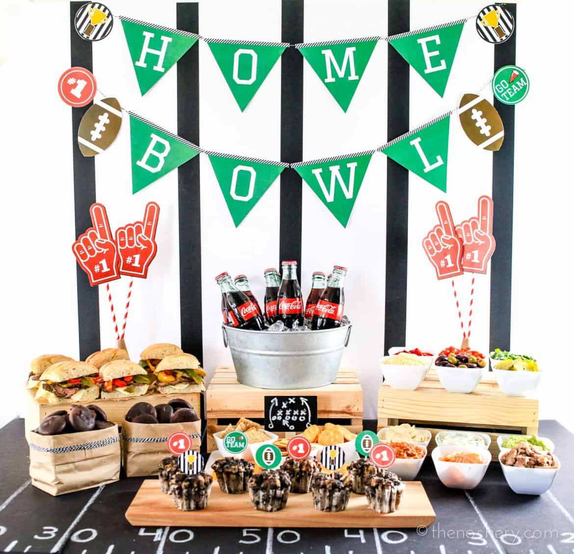 Ultimate Home Bowl Spread with Free Printables #HomeBowlHeroContest | TheNoshery.com