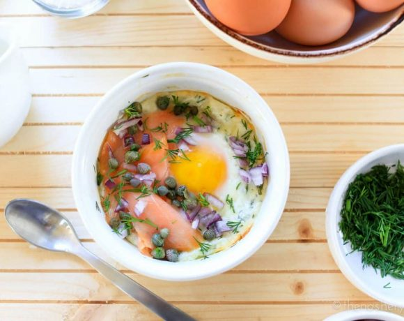 Baked Eggs and Smoked Salmon [VIDEO]