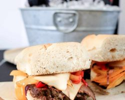 Game Day Eat! Easy RITZ Mallomars and Coca-Cola Slowcooker Beef and Pepper Sandwiches | TheNoshery.com #HomeBowlHeroContest