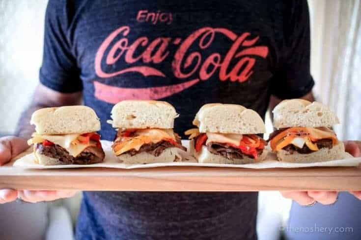 Coca-Cola Slowcooker Beef and Pepper Sandwiches