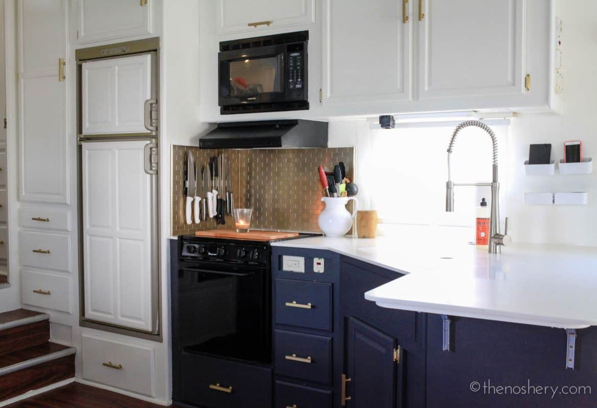 Tiny House Living: Camper Remodel  TheNoshery.com #dreamsmallproject