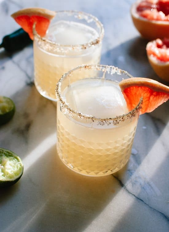 A Round of Margaritas! | Spicy Grapefruit Margarita | Cookie and Kate
