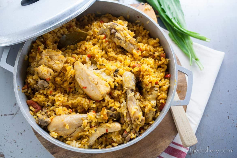 Arroz con pollo chicken and rice the noshery - Arroz salteado con pollo ...