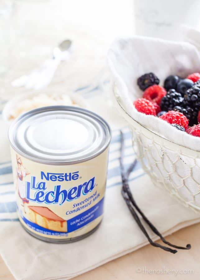 Coconut Pudding with Vanilla Berries | TheNoshery.com