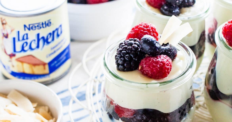 Coconut Pudding with Vanilla Berries   TheNoshery.com