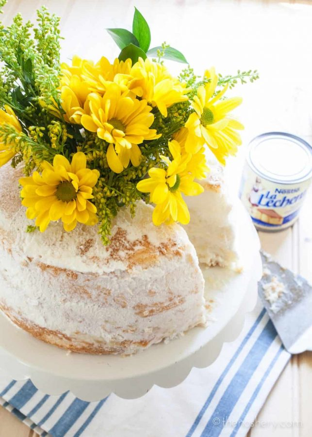 Pineapple Cream Angel Food Cake | TheNoshery.com #ad