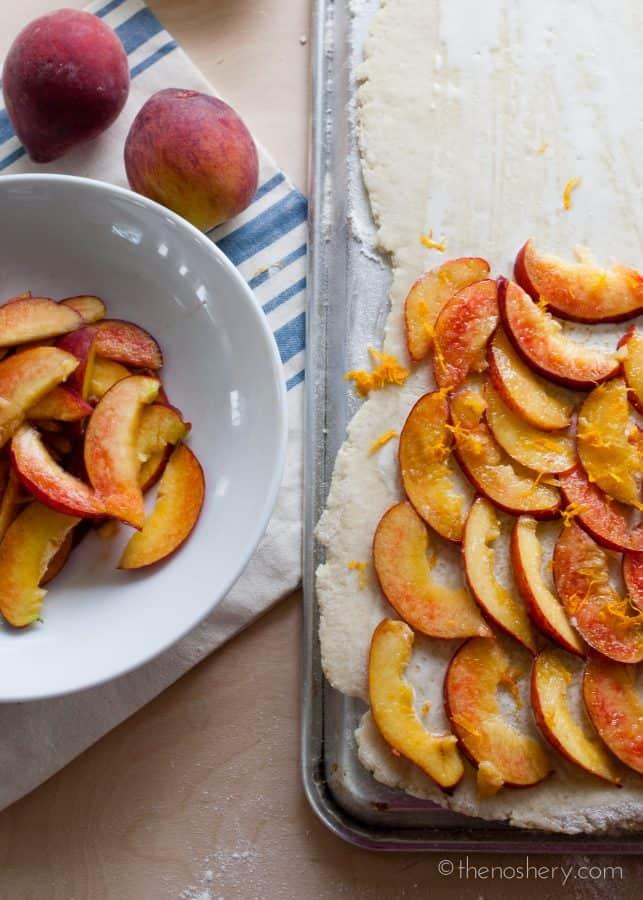 Peaches & Cream Scones | TheNoshery.com