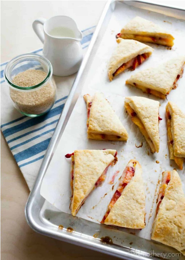 Peaches & Cream Scones