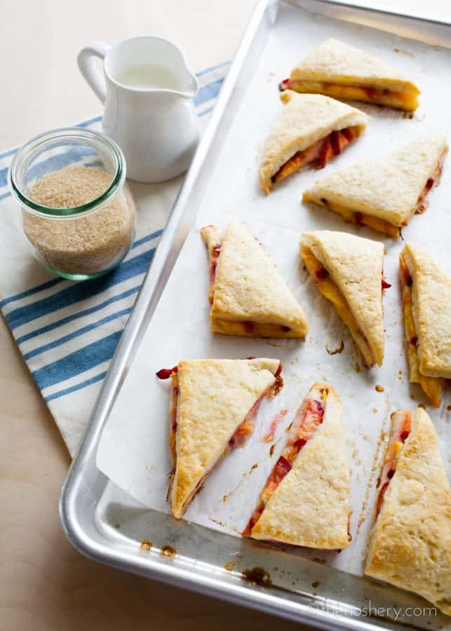 Peaches and Cream Scones | The Noshery