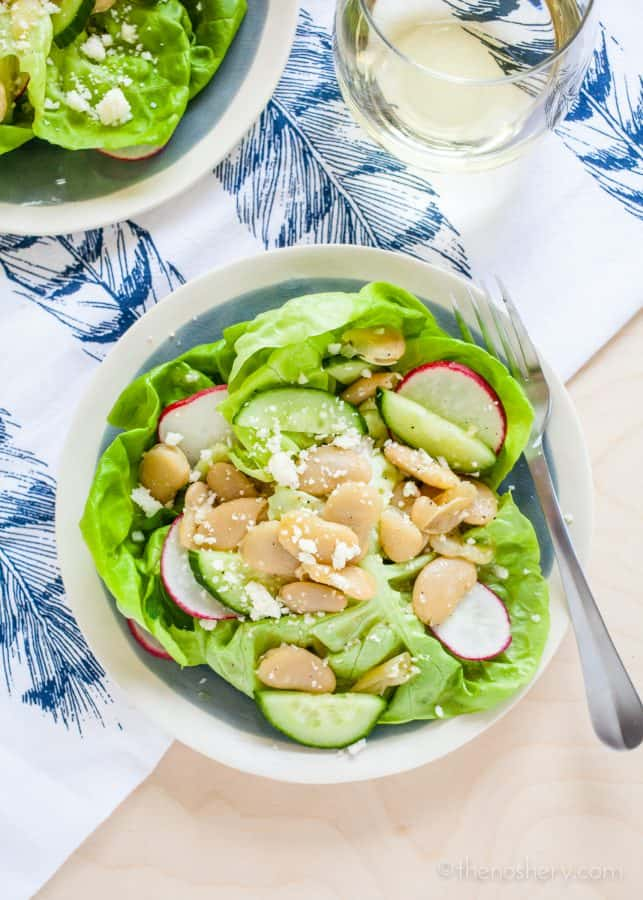 Butter Lettuce and Marinated Butter Beans Salad   TheNoshery.com