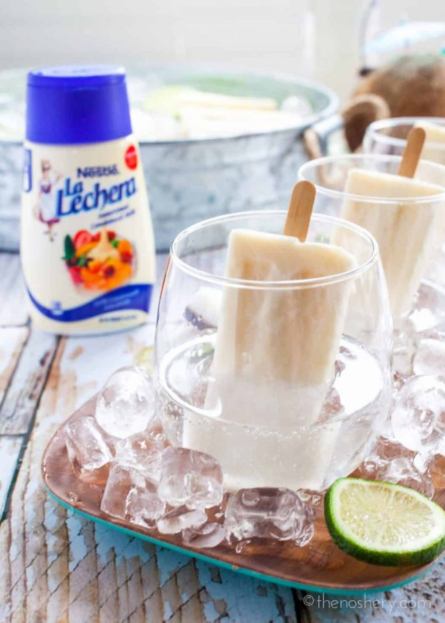Summer Coquito | Rum and Coconut Popsicle Cocktail - TheNoshery.com