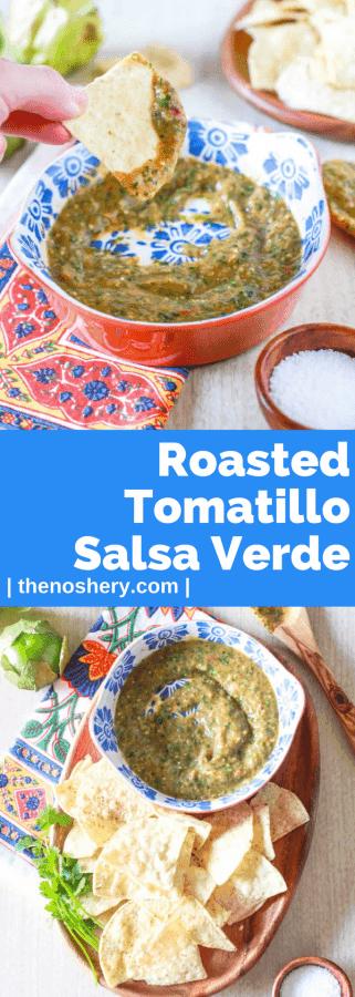 Roasted Tomatillo Salsa Verde | The Noshery