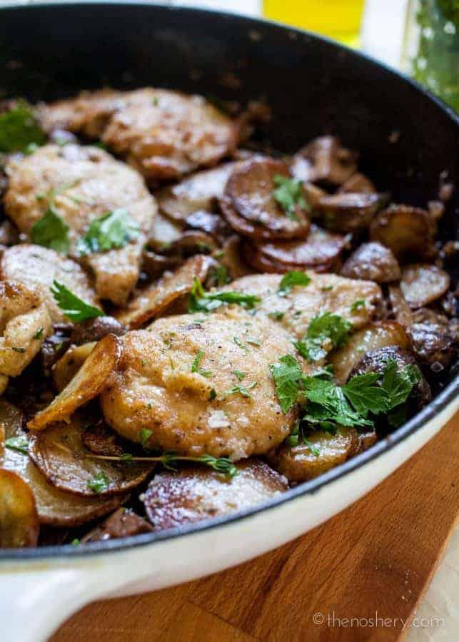 Skillet Mushroom Chicken | TheNoshery.com