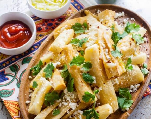 Yuca Frita (Fried Yuca) - TheNoshery.com