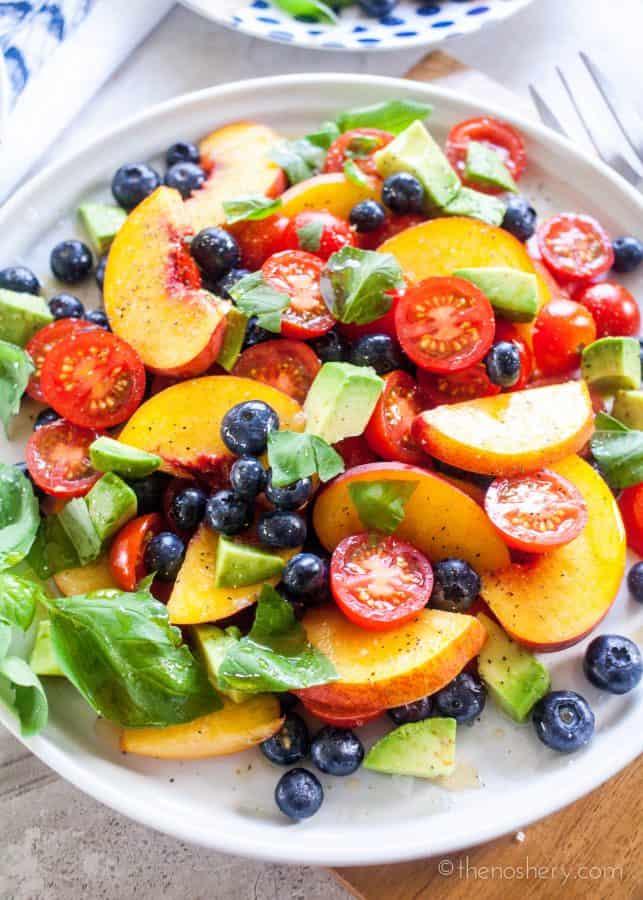 Summer Fruit Dinner Salad | TheNoshery.com