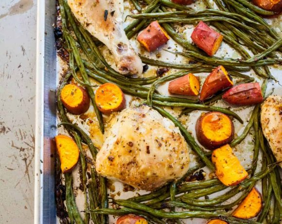 Sheet Pan Chicken with Green Beans and Potatoes