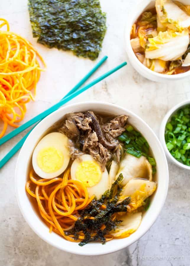 "Slow Cooker Pork ""Ramen"" 