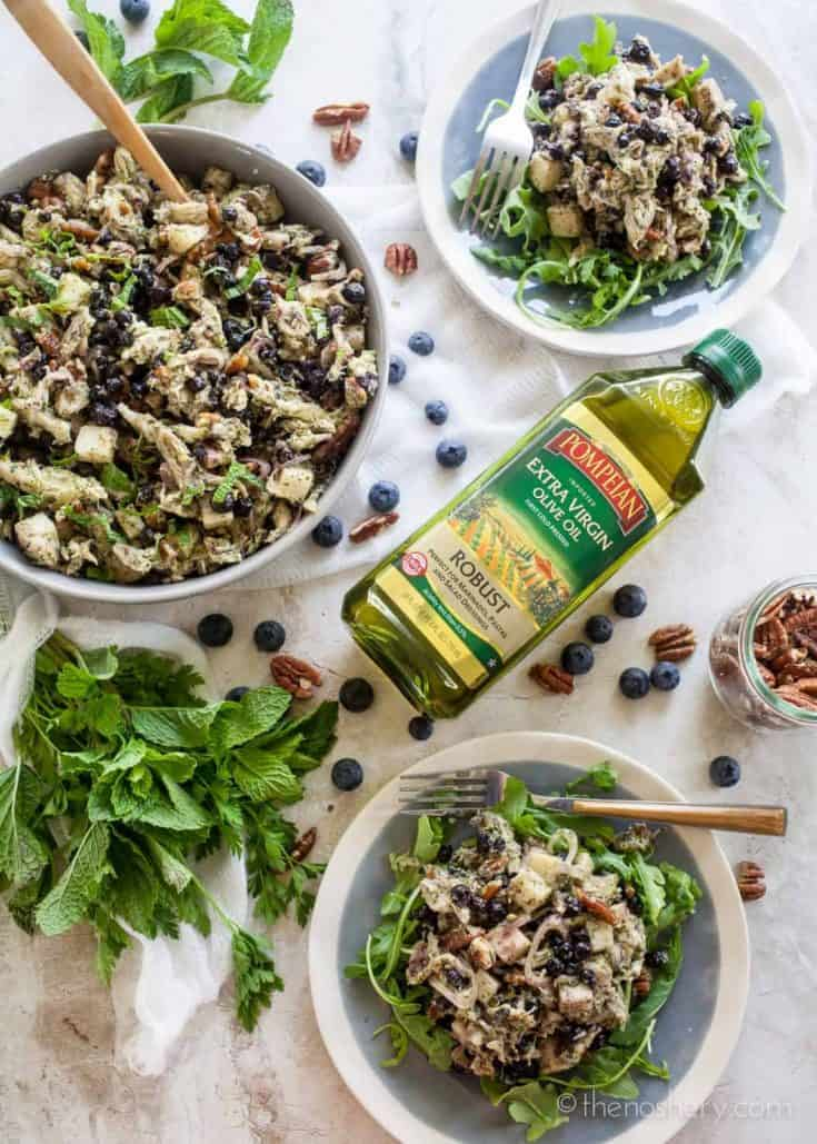 Blueberry and Pecan Chicken Salad