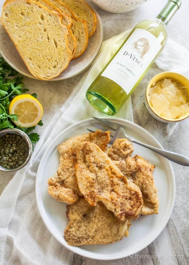 Open Faced Chicken Picatta Sandwich | TheNoshery.com
