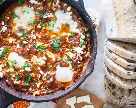 Shakshuka | Eggs Poached in Spiced Tomato Sauce