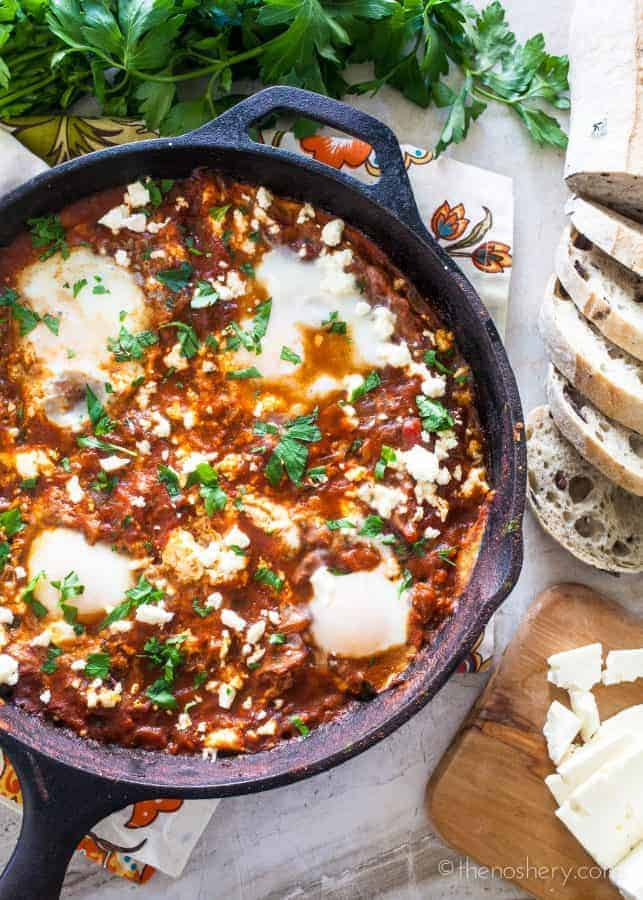 Shakshuka | Baked Eggs in Spiced Tomato Sauce | The Noshery