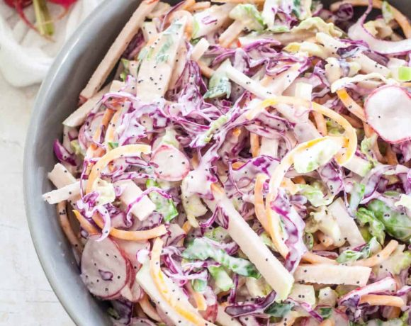 Autumn Brussels Sprout and Apple Slaw