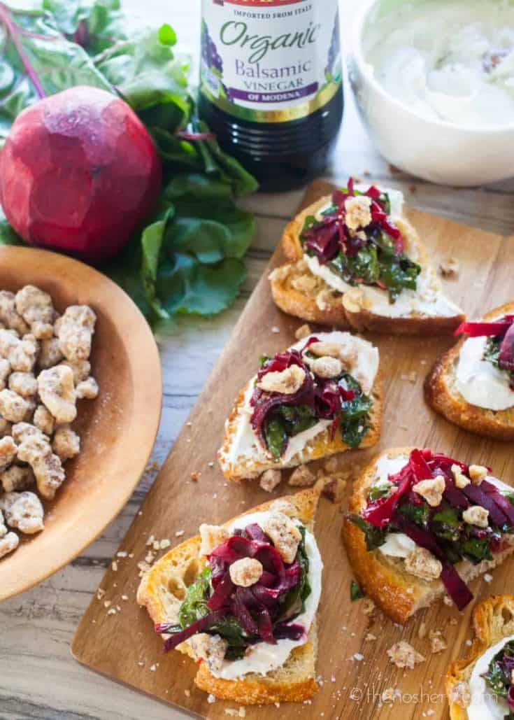 Balsamic Beets & Goat Cheese Toasts
