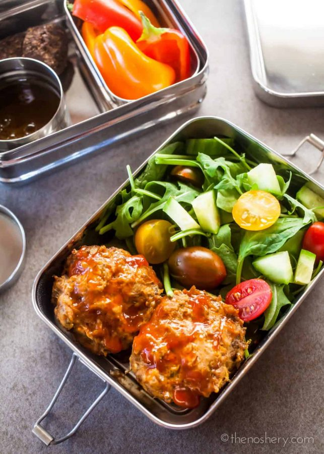 Healthy Lunch | Mini Meatloaf Muffins | TheNoshery.com