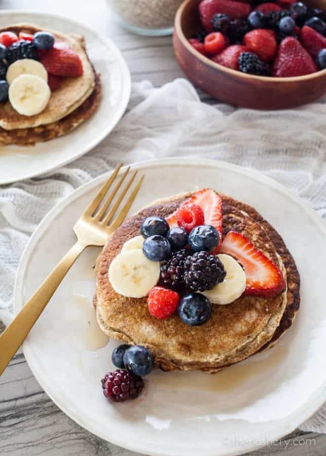 Multigrain Protein Pancakes | TheNoshery.com