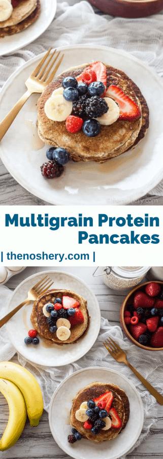 Multigrain Protein Pancakes | The Noshery