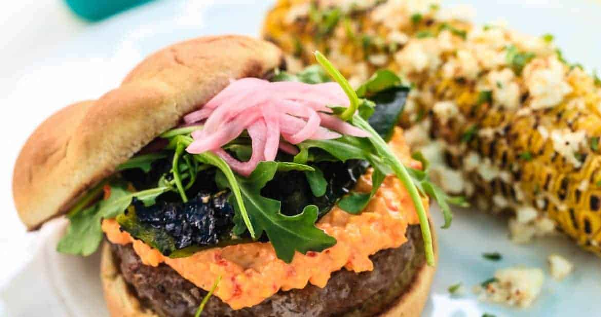 Spicy Chorizo Burger with Pimento Cheese