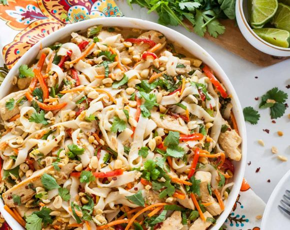 Light Thai Peanut Noodles with Chicken