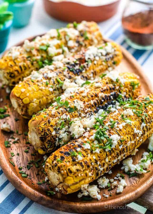 Elote Corn (Mexican Street Corn) | TheNoshery.com