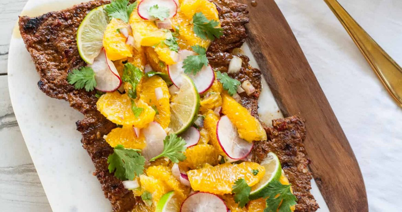 Carne Asada with Orange Salsa