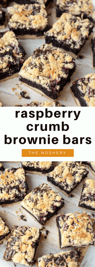 Raspberry Brownie Bars | The Noshery
