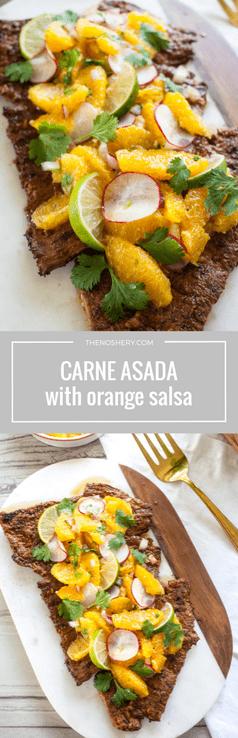 Carne Asada with Orange Salsa | The Noshery