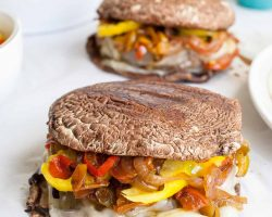 Low Carb Philly Cheese Burgers | The Noshery